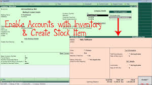 List Of Erp Systems How To Enable Inventory And Create Stock Item In Tally Erp 9
