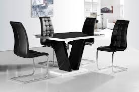 black dining room chairs set of 4 ga vico blg white black gloss gloss designer 120 cm dining set 4