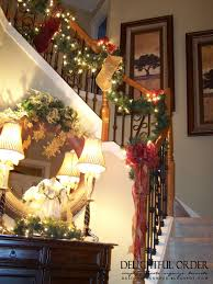 Decoration Staircase Christmas by Delightful Order Staircase Christmas Decorating