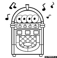 jukebox coloring free jukebox coloring