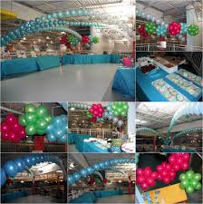 collections of red and turquise blue balloon wedding decorations