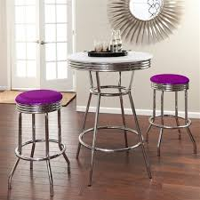 the furniture cove 3 piece chrome bar table set with 2 chrome