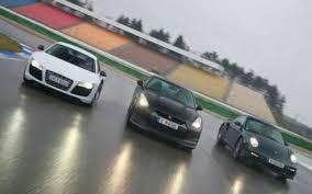 lexus vs audi r8 porsche 911 turbo vs nissan gt r vs audi r8 v10 nickcars com