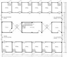 Barn Plans With Loft Apartment 16 Stall Horse Barn Plans 11 Stall Horse Barn Floor Plan With