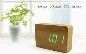 afficher l heure sur le bureau led verte station météorologique de conception imitation numérique