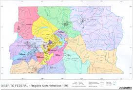 map of brasilia brasilia federal district administrative region map brazil