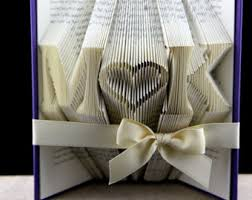 wedding gift book folded book sculpture anniversary gift personalized wedding