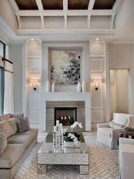 Living Room Fireplace Idea Houzz - Living room designs with fireplace