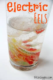 electric eels science experiments glass and baking soda