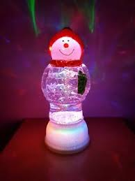 light up snow globe light up snowman snow globe with glitter battery operated led lights