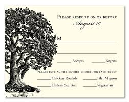 rsvp cards for wedding wedding rsvp cards vieux oak also available in plantable