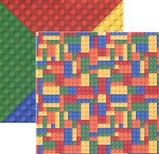 lego like multi color building blocks double sided scrapbook