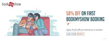 freecharge bookmyshow offer get upto rs 125 off on first movie