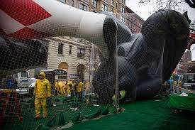 macy s balloon floats inflated ahead of annual thanksgiving parade