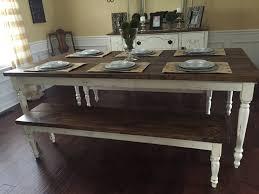 custom farmhouse table built by southern swag kirklands galvanized