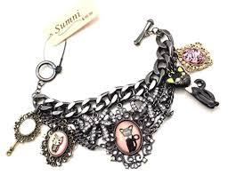 black bracelet with charm images Sumni lucky black cat charm bracelet jpg