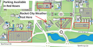 University Of Tennessee Parking Map by Rocket City Weatherfest
