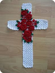 free crochet patterns for home decor crafts for home decor crocheted floral cross wall art free crochet