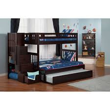 Single Bed With Storage And Trundle Bunk Beds Loft Bed With Trundle Oak Bunk Beds Kids Bunk Beds