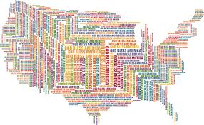 America Map by Clipart God Bless America Map