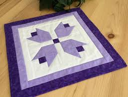 quilted square table toppers purple tulip quilted square table topper handmade purple patchwork