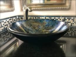 bathroom glass sink bowls aurora series glass sinks with intrigue