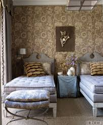 bedroom with brown wallpaper decorating room ideas general 20 guest room design ideas how to decorate a guest bedroom