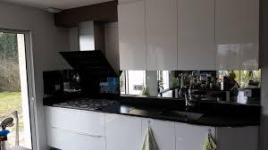 cr ence en miroir pour cuisine incroyable plaque en verre pour cuisine 1 cr233dence en verre