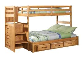 Staircase Bunk Beds Twin Over Full by Discovery World Furniture Twin Over Full Ginger Staircase Bunk Bed