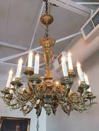 French Chandelier Antique Item L36 French Wooden Chandelier C 1900 Antique Lighting