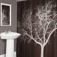 home tree fabric shower curtain
