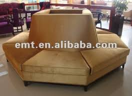 circle banquette settee lobby sofa round lobby sofa bonners furniture