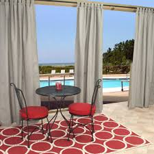 50 X 96 Curtains Sunbrella Spectrum Dove Outdoor Curtain With Tabs 50 In X 96 In
