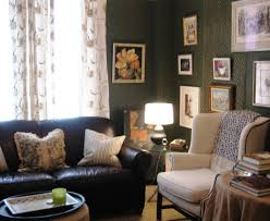 Home Office With Sofa Living Room Green Furniture Design Ideas With On Table Top Round