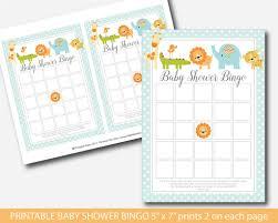 zoo baby shower bingo cards giraffe baby shower bingo cards bs4
