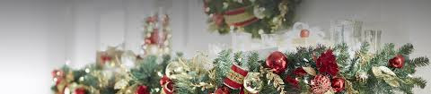 Outdoor Lighted Garland Christmas Wreaths And Garland At The Home Depot