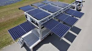 The Worlds Largest Mobile SolarPowered Generator Home Design - Solar powered home designs