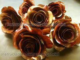 metal roses metal roses copper and steel sculpture 8 steps