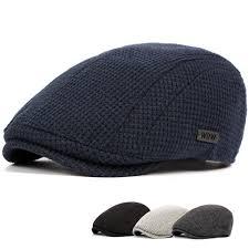 high quality mens cotton gatsby flat beret cap adjustable hat