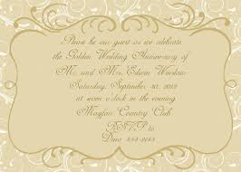 Wedding Bible Verses For Invitation Cards Golden Wedding Anniversary Invitation Golden Wedding Anniversary