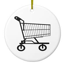 shopping cart ceramic ornament zazzle