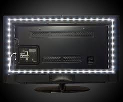 led strip lights for tv luminoodle led tv backlight dudeiwantthat com