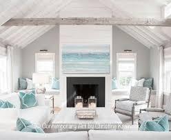 blue and green home decor original art abstract painting light blue textured beach coastal