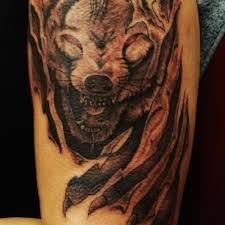 wolf 2 wolf half sleeve on tattoochief com