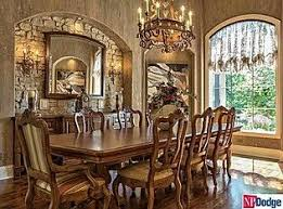 Dining Room With Stack Stone Accent Wall Dining Areas - Dining room accent wall