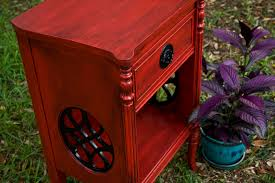Red Shabby Chic Furniture by Modernly Shabby Chic Furniture Red And Black Glazed Nightstand
