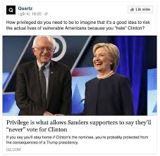 bernie people check your privilege