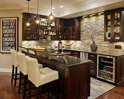 Bar Cabinets For Home Marvellous Bar Design Ideas With Brick Wall Barstool Wine Granite