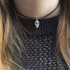 skull pendant necklace images Small anatomical skull pendant with leather the great frog jpg