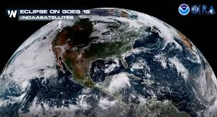 Wildfire From Space by Video The Eclipse Seen From Space Weathernation